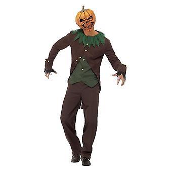 Mens Goosecolisões Jack-O'-lanterna Halloween fantasia vestido traje