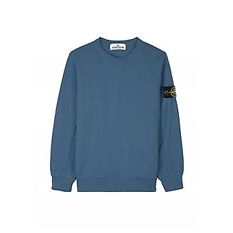 Stone Island Junior Avio Blue Classic Sweatshirt