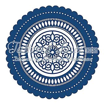 Victorian kulmat: Tattered Lace Metal Die paperi kortti Stephanie Weightman