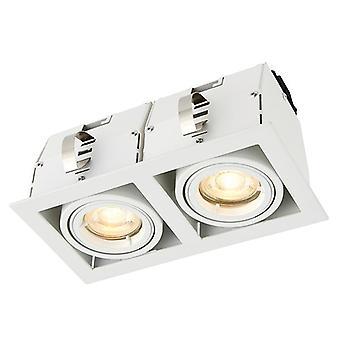 Saxby Lighting Garrix Twin Recessed Light Matt White 78534