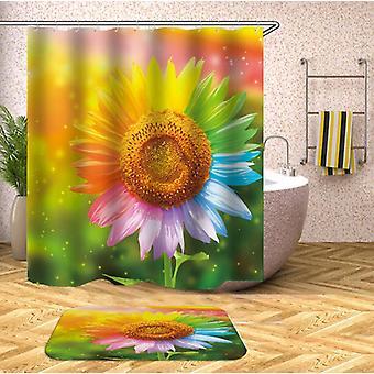 Tenda doccia girasole multicolore