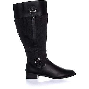 Karen Scott Womens Deliee lederen amandel teen knie High Fashion laarzen