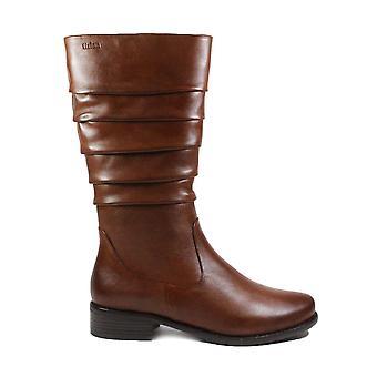 Tizian Orlando 07 Tan Leather Womens Mid Calf Boots