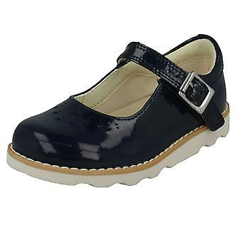 Tytöt Clarks leikkaa yksityiskohtaiset kengät Crown Jump