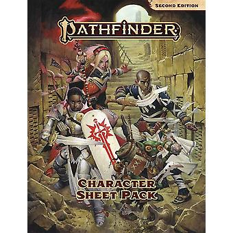 Caracter Sheet Pack Pathfinder RPG Second Edition P2-carte de jocuri