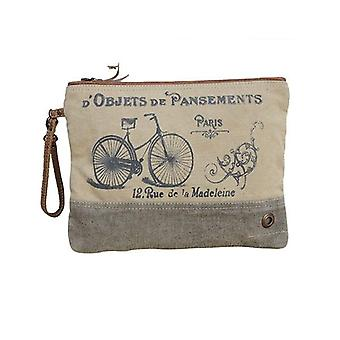 Moi Canvas Zip Clutch Bag