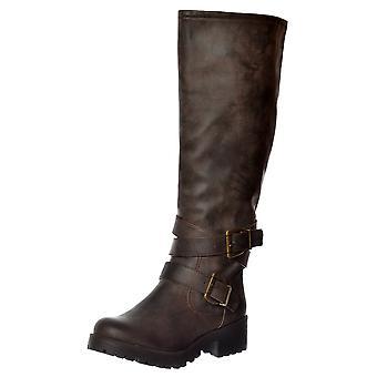 Rakete Hund Lainy Galaxy Knie High Block Heel Boot