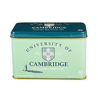 University of cambridge english breakfast tea tin 40 teabags
