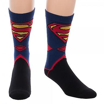 Crew Socks - Superman - Suit Up New Licensed so4vqqspm
