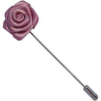 Bassin og Brown floral Rose jakkeslaget pin-Dusky Pink