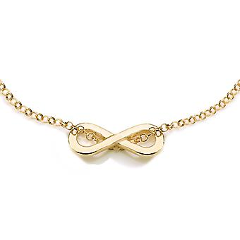Ah! Jewellery 24K Gold Vermeil Over Sterling Silver Infinity Necklace, Stamped 925