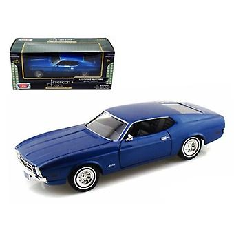 1971 Ford Mustang Sportsroof Blue 1/24 Diecast Model Car By Motormax