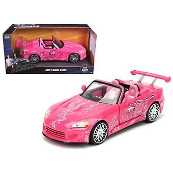 Suki-apos;s 2001 Honda S2000 Rose 'Fast 'amp; Furious' Movie 1/24 Diecast Model Car par Jada