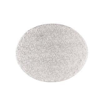 Culpitt 12'quot; X 10'quot; (304 X 254mm) Cake Board Oval Silver Fern Pack Of 5