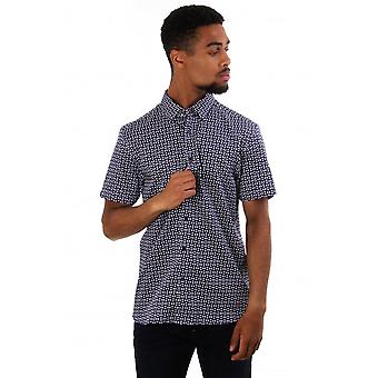 Ted Baker Mens Steeve Geo Print Short Sleeve Shirt