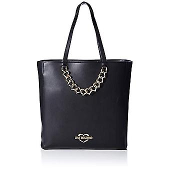 الحب موسكينو Jc4040pp1a حقيبة حمل المرأة السوداء (أسود) 12x33x40 سم (W x H x L)