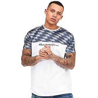 Kings Will Dream | Kwd Wakley 2006 Geometric Panel Tape Half Sleeve T-shirt - White