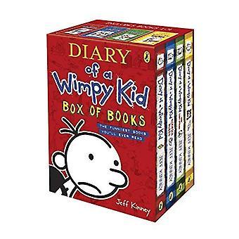 Dagbok av en Wimpy Kid låda böcker