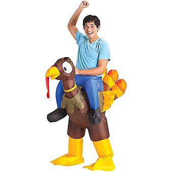 Inflate Turkey Rider Adult Costume
