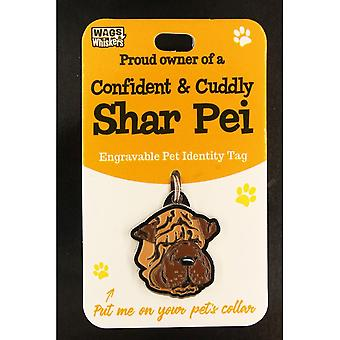 Wags & Whiskers Pet Identity Tag - Shar Pei