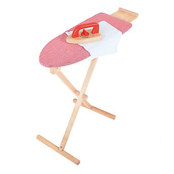 Bigjigs Toys Wooden Ironing Board and Iron Pretend Play Set Chores Kid's