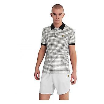 Lyle & Scott Check Polo Shirt Ss White