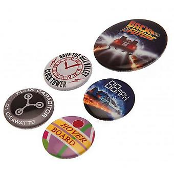 Back To The Future Button Badge Set (5 Pieces)