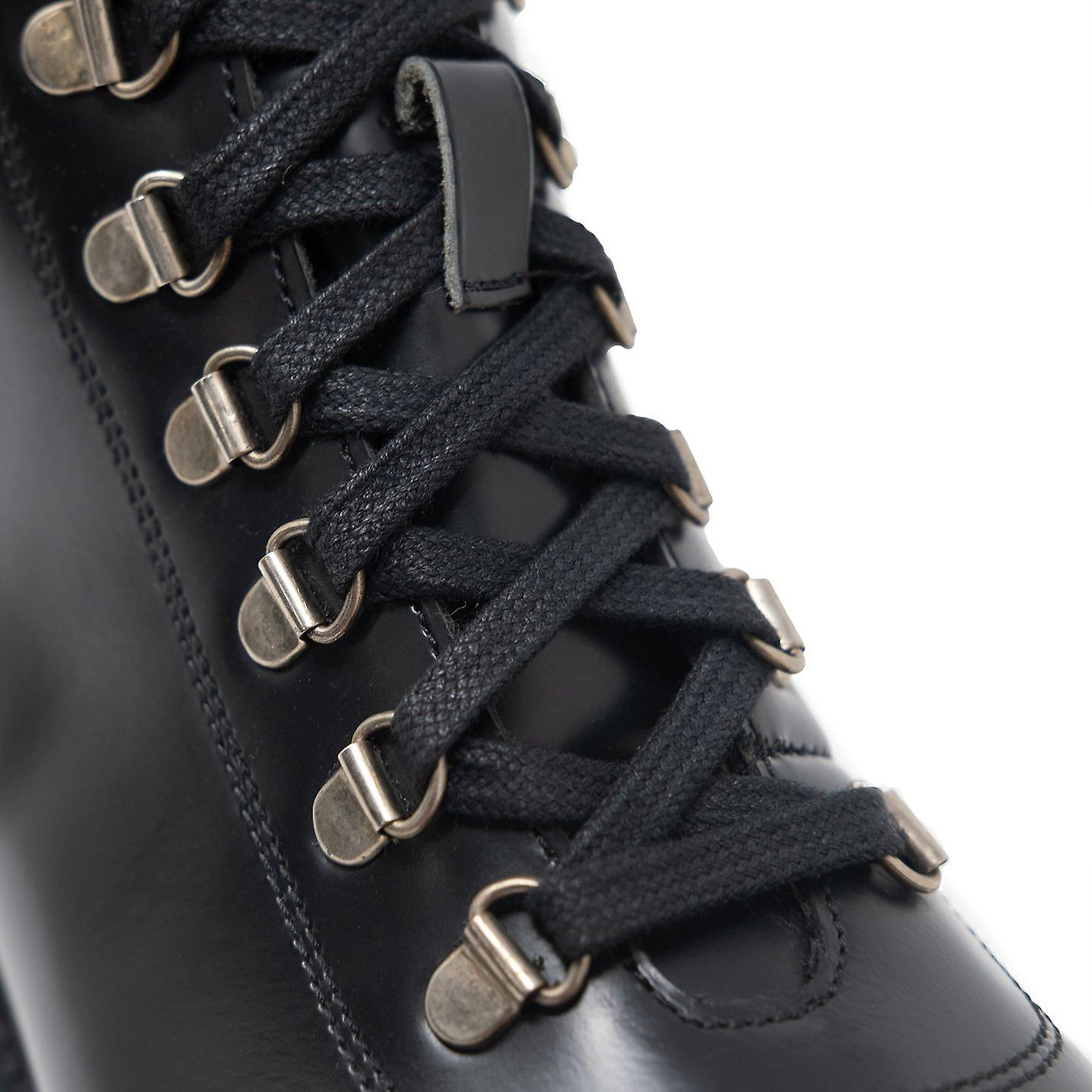 Walk london sean hiking boots in black leather
