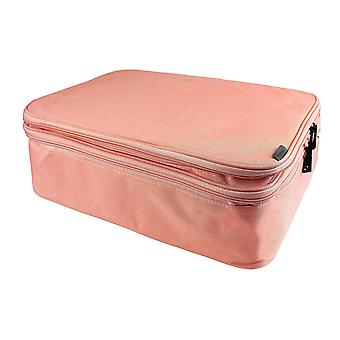 Asiakirjalaukku, jossa 13 lokeroa - Vaaleanpunainen