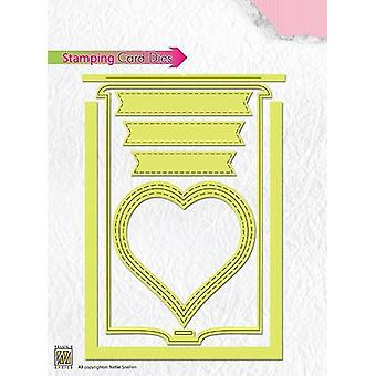 Nellie's Choice Stamping Card Die heart