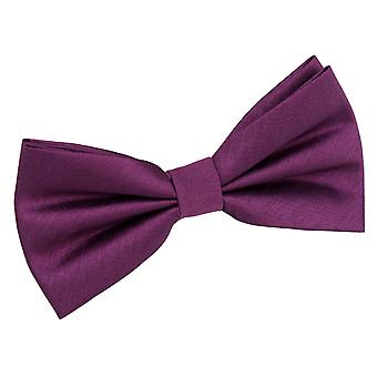 Orchid Plain Shantung Pre-Tied Bow Tie