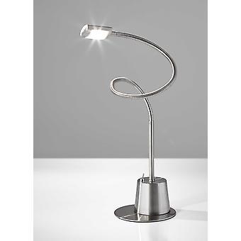 "6"" X 6"" X Max: 37"" "" Brushed steel Metal Extended Gooseneck Lamp"