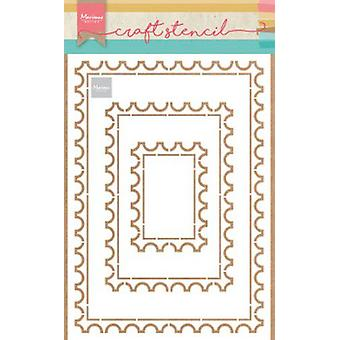 Marianne Design Stencil Post Card Ps8034 149x149 mm