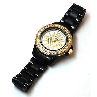 Henley Glamour Ladies Bling Black Sports Strap Watch