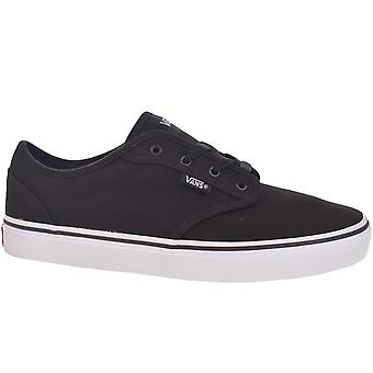 Vans Junior Kids Atwood Casual Low Rise Canvas Trainers Sneakers Shoes - Black