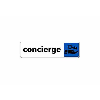 Stick stick sticker adhesif signage plaque door concierge sign