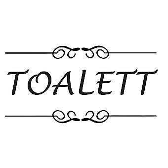 Wall décor | 2-Pack | Toilet sign | Lucida Font