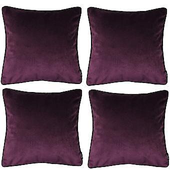 Matta munakoiso violetti sametti tyyny setti
