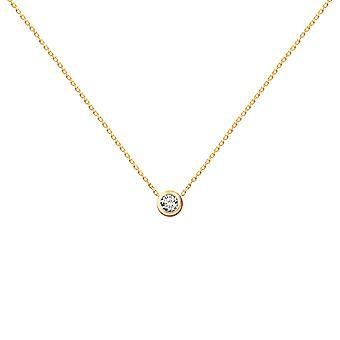 Collier de bébé Diamond Solitaire 0.05 carat et 18K Or - Or Jaune