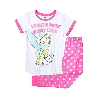 Women's Disney Tinker Bell 'Worry Less' Cuffed Pyjama Set