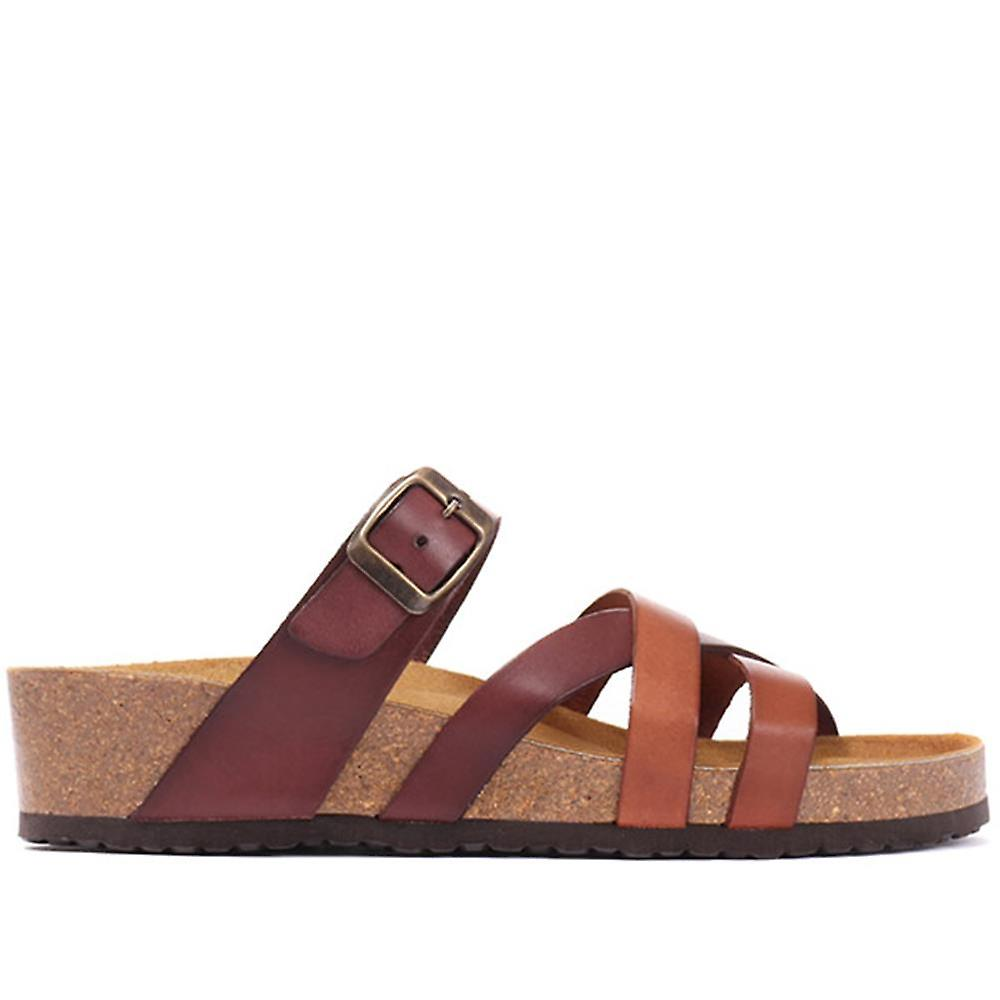Jones Bootmaker Leather Mule Wedge Sandals
