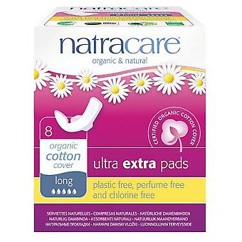 Natracare Ultra pads with wings extra long 8 pcs bio