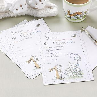Guess How Much I Love you Party Invitations x 10 Birthday Christening