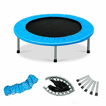"38"" Mini Trampoline Gym Jumping Bed Foldable Fitness Exercise Bouncer Sports"
