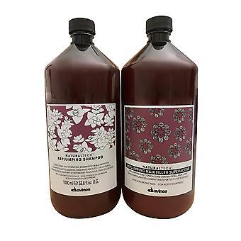 Davines Naturaltech Replumping Shampoo and Hair Filler 33.8 OZ