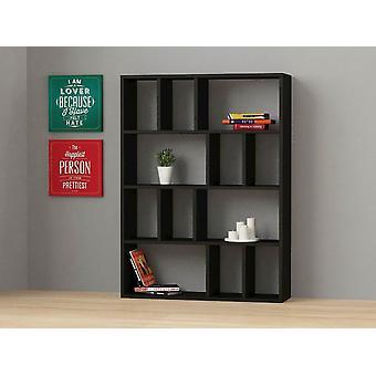 Biblioteca de color negro Donie en Chip Melaminic 90x25x122 cm