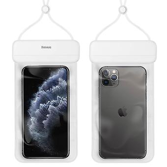 """Waterproof Protective Case Smartphone Up to 7.2"""" Let's Go Baseus White Cord"""