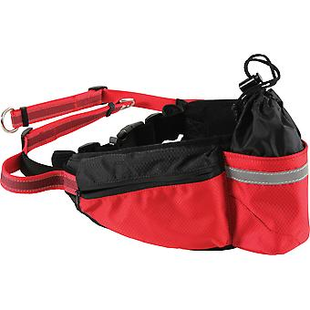 Zolux Moov Jogging Belt Black/Red (Dogs , Collars, Leads and Harnesses , Leads)