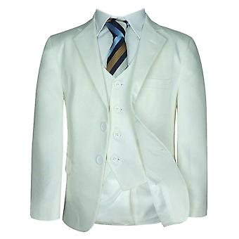 Boys Formal Cream First Communion Suit Set