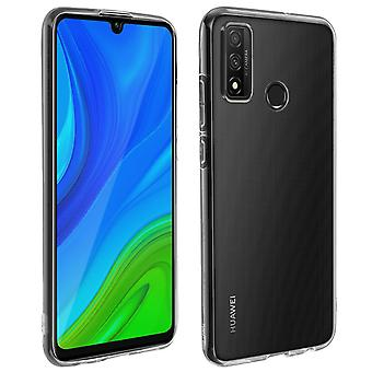 Huawei P smart 2020 Soft Back Cover and 9H Tempered Glass Film Black Outline